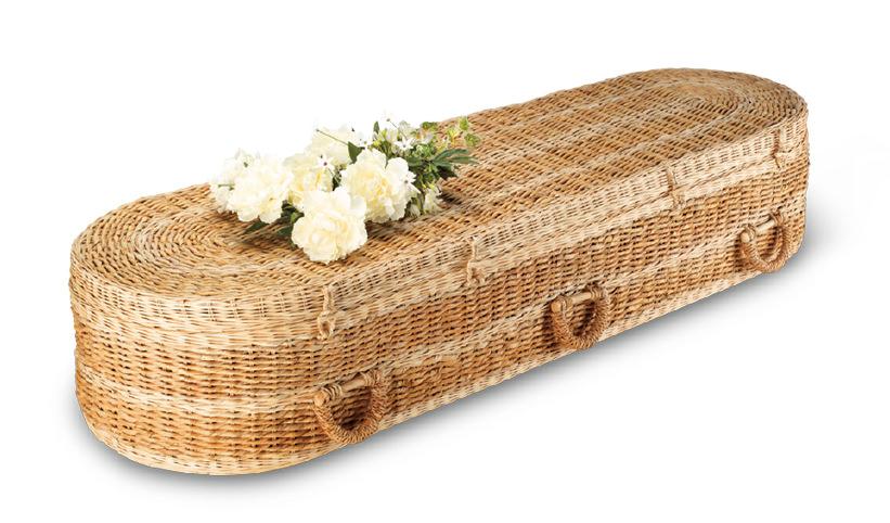 Bamboo Round Coffin