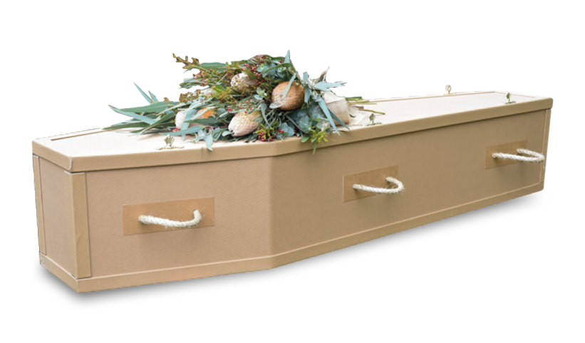 100% Recycled Cardboard Coffin